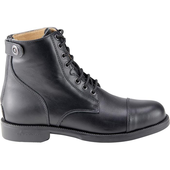Boots équitation adulte PADDOCK 500 LACETS noir - 1214059