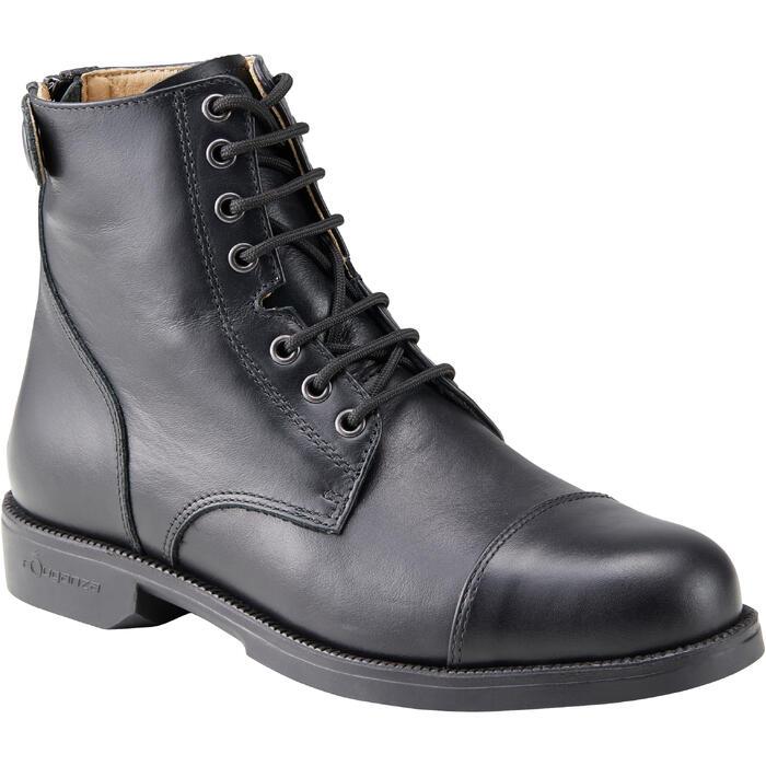 Boots équitation adulte PADDOCK 500 LACETS noir - 1214060