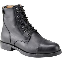 Paddock 500 成人綁帶馬靴 - 黑色款