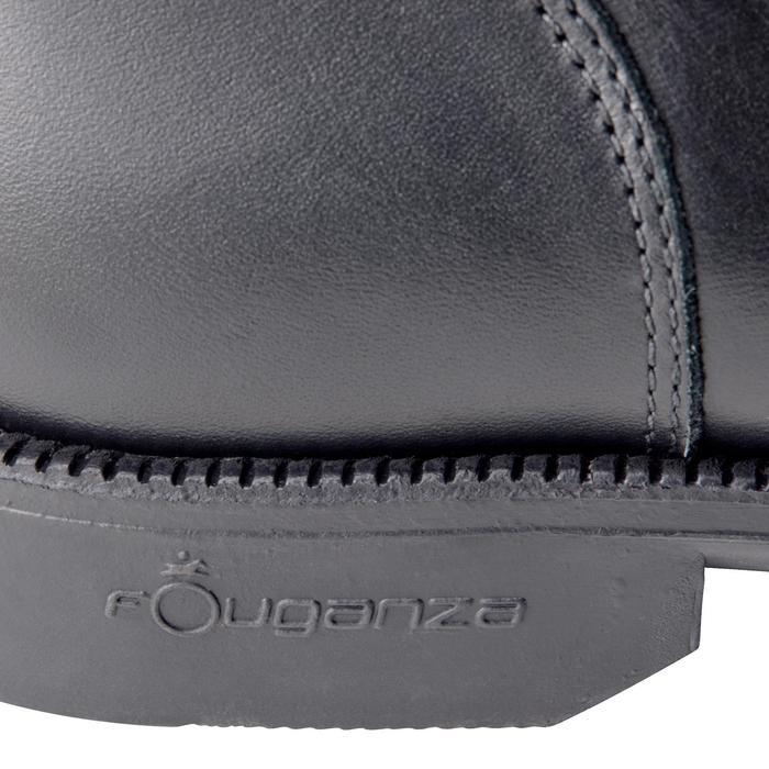 Boots équitation adulte PADDOCK 500 LACETS noir - 1214061