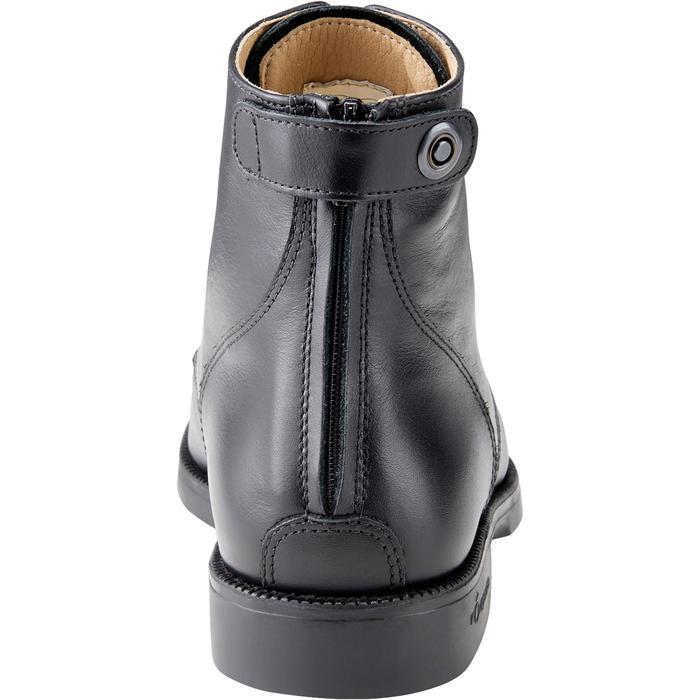 Boots équitation adulte PADDOCK 500 LACETS noir - 1214063