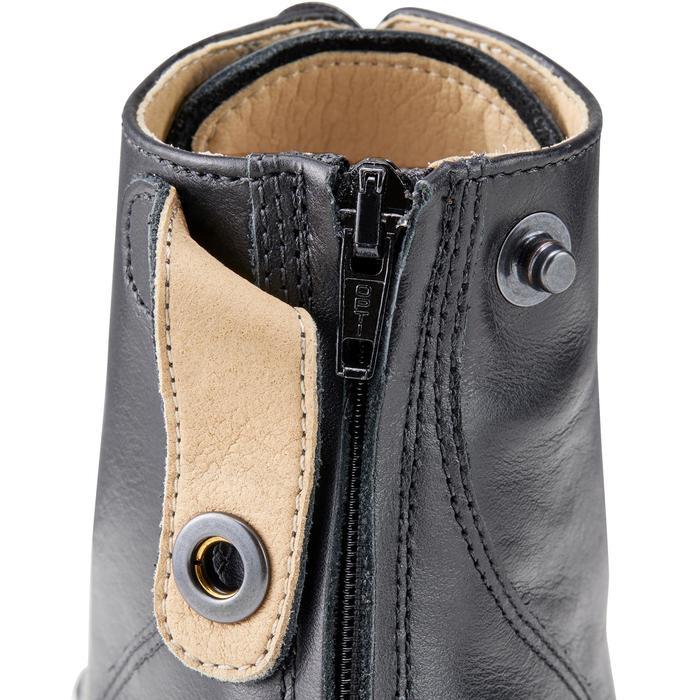 Boots équitation adulte PADDOCK 500 LACETS noir - 1214064