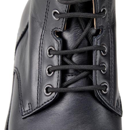 Paddock 560 Adult Lace-Up Leather Horseback Riding Boots - Black