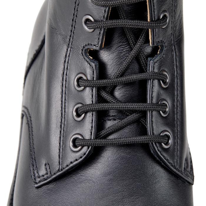 Boots équitation adulte PADDOCK 500 LACETS noir - 1214065