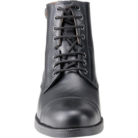 Paddock 560 Adult Lace-up Leather Horse Riding Boots - Black