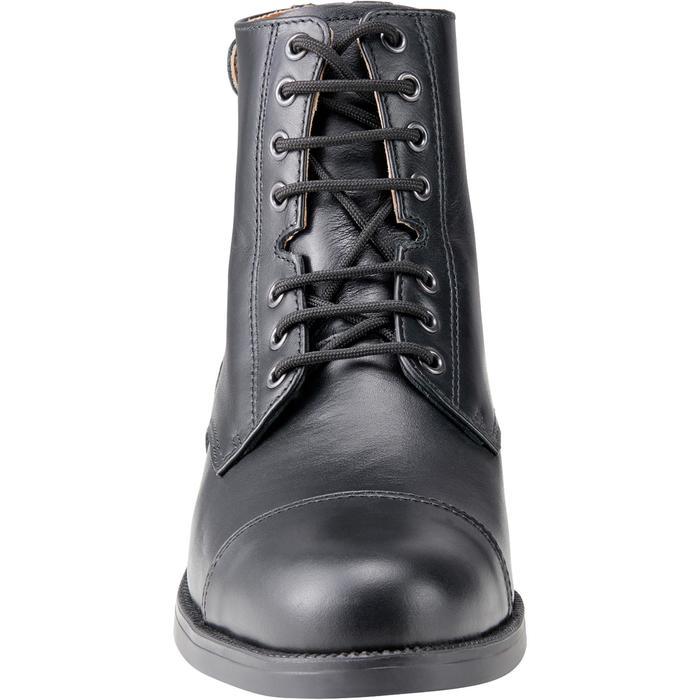 Boots équitation adulte PADDOCK 500 LACETS noir - 1214066