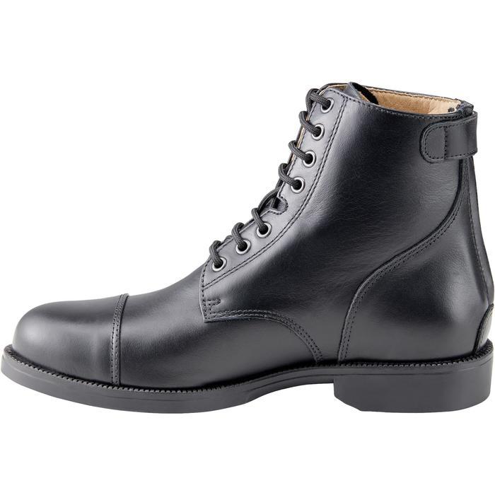 Boots équitation adulte PADDOCK 500 LACETS noir - 1214067