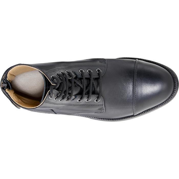 Boots équitation adulte PADDOCK 500 LACETS noir - 1214069