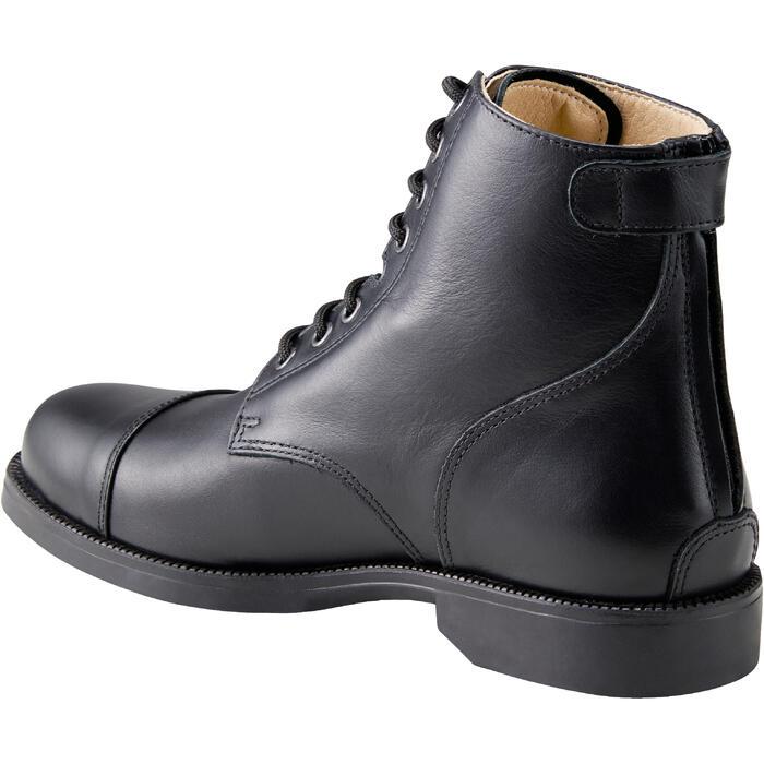 Boots équitation adulte PADDOCK 500 LACETS noir - 1214070