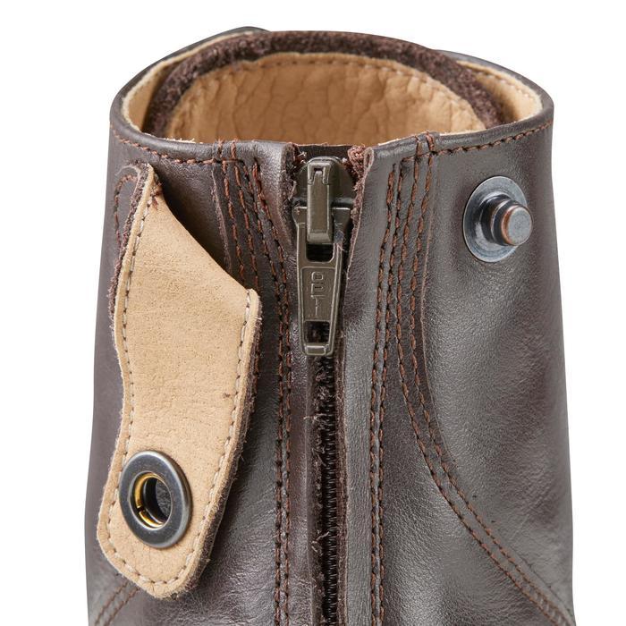 Boots équitation adulte PADDOCK 500 LACETS marron - 1214071