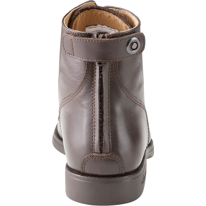 Paddock 560 Adult Horse Riding Lace-up Leather Jodhpur Boots - Brown