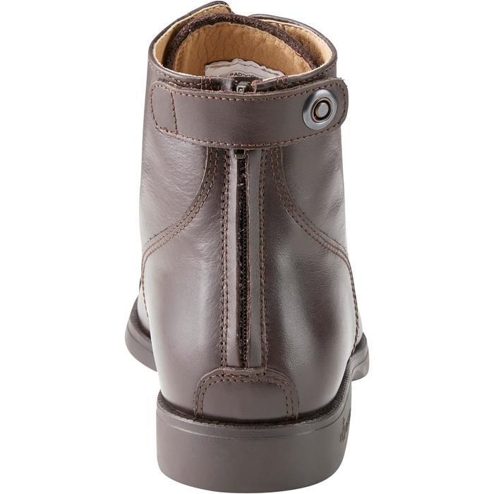 Boots équitation adulte PADDOCK 500 LACETS marron - 1214072