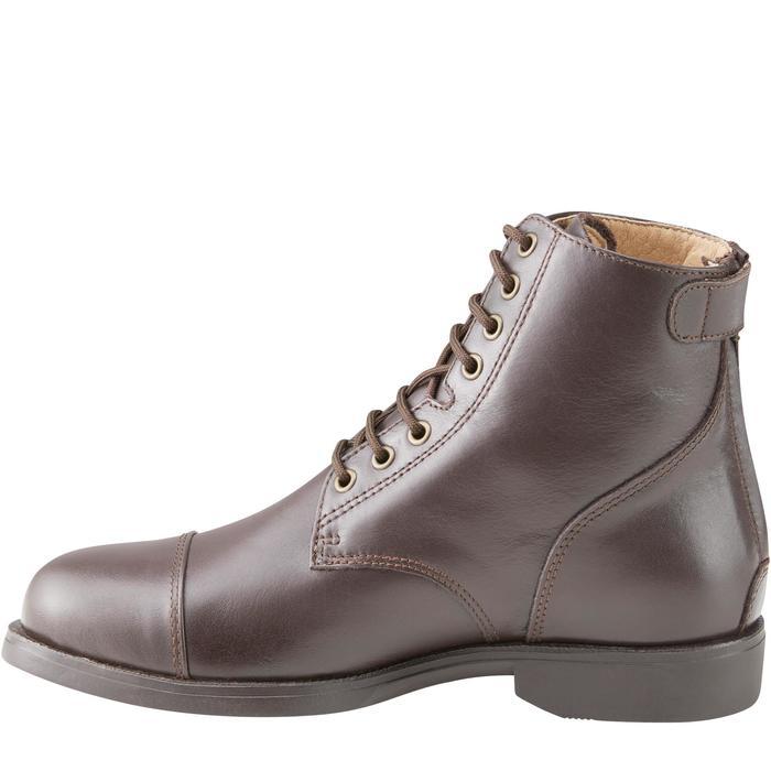 Boots équitation adulte PADDOCK 500 LACETS marron - 1214073