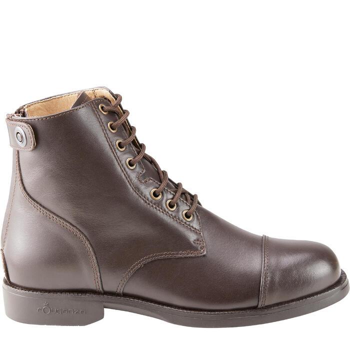 Boots équitation adulte PADDOCK 500 LACETS marron - 1214074