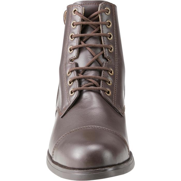 Boots équitation adulte PADDOCK 500 LACETS marron - 1214076