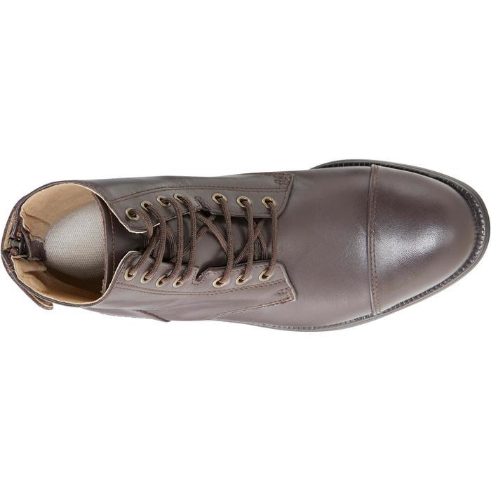 Boots équitation adulte PADDOCK 500 LACETS marron - 1214077