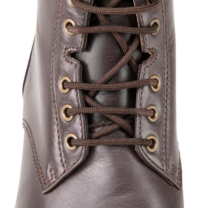 Boots équitation adulte PADDOCK 500 LACETS marron - 1214078
