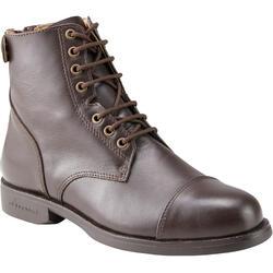 馬術運動綁帶馬靴 500 Paddock - 咖啡色