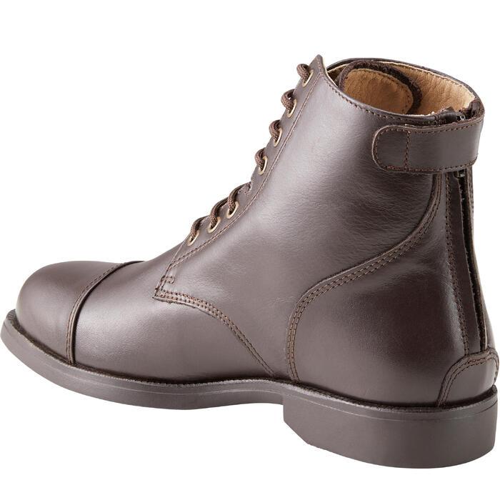 Boots équitation adulte PADDOCK 500 LACETS marron - 1214081