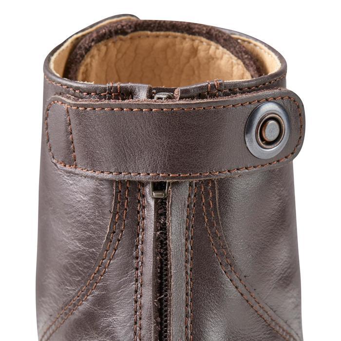 Boots à lacets équitation adulte PADDOCK 560 cuir marron