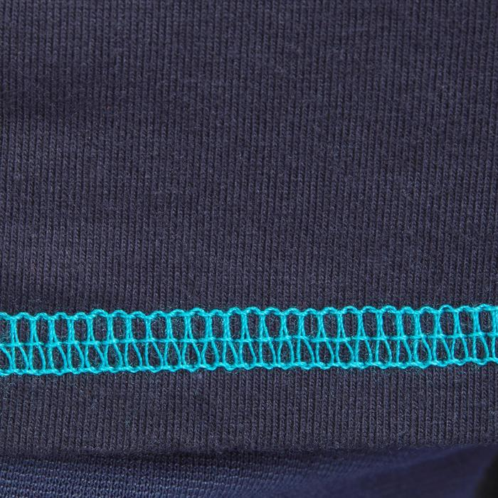 Polo manches longues équitation fille bleu marine broderie HR - 1214102