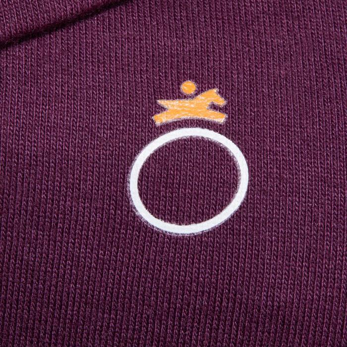 Polo équitation baby manches longues prune motif poney