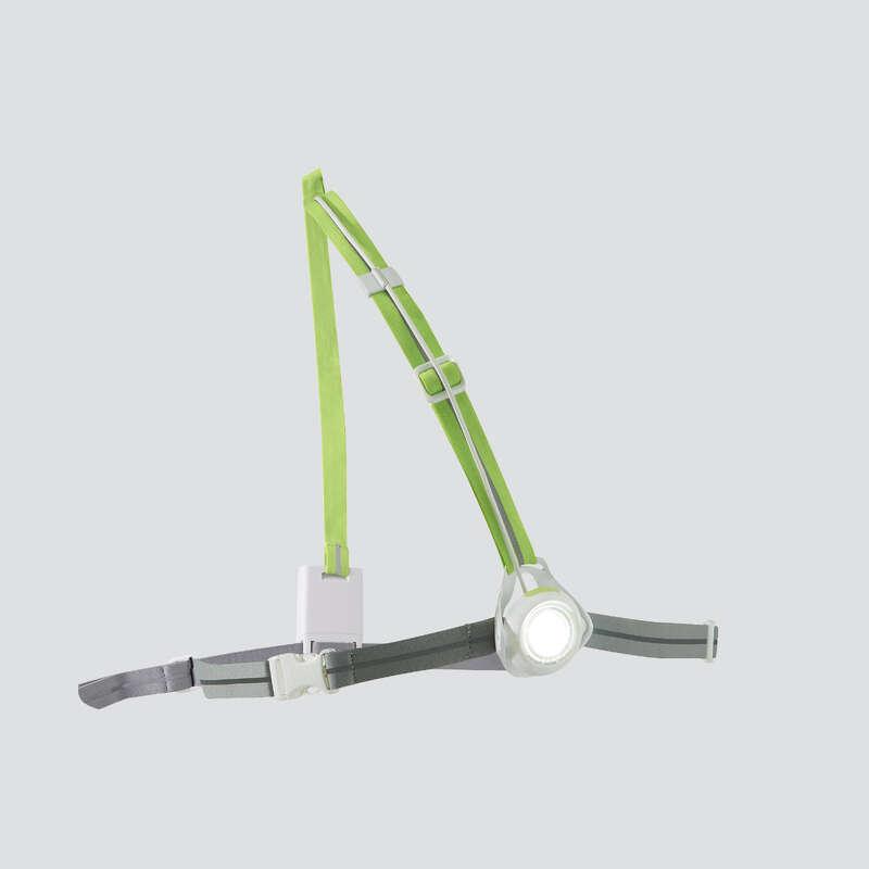 DOPLŇKY PRO VIDITELNOST BĚŽCE Běh - SVÍTILNA RUN LIGHT 250 BÍLÁ  KIPRUN - Běžecká elektronika