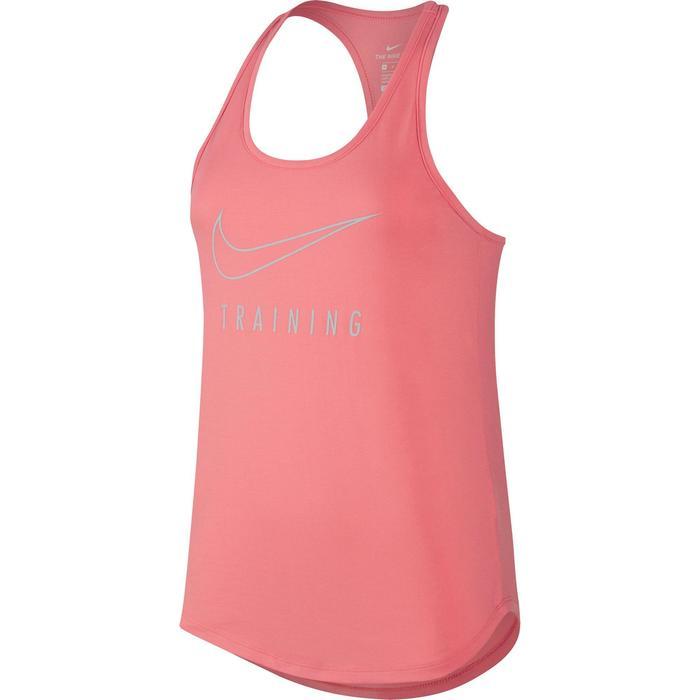 Débardeur gym pilates femme rose - 1214140