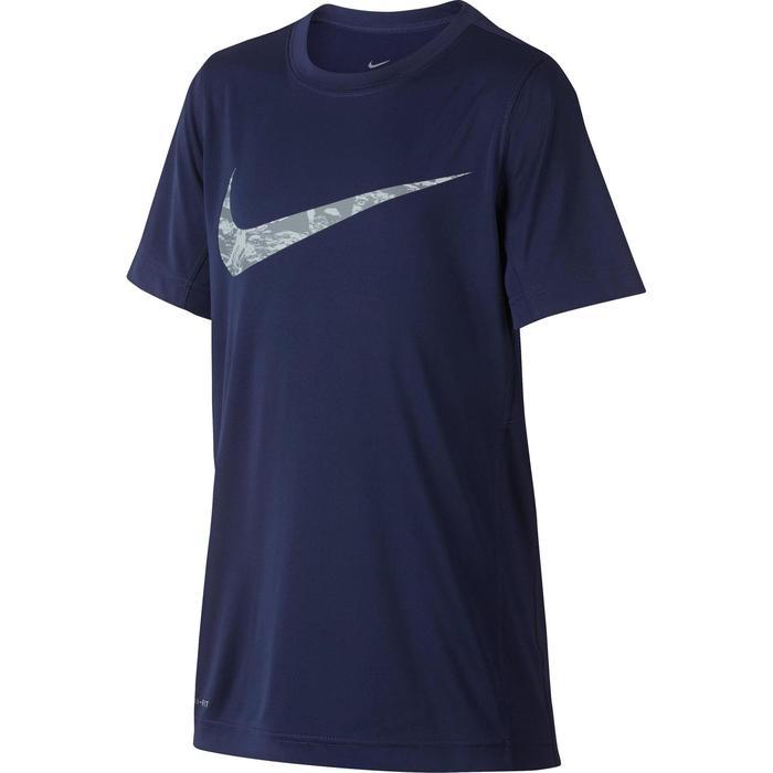 T-Shirt Fitness garçon bleu
