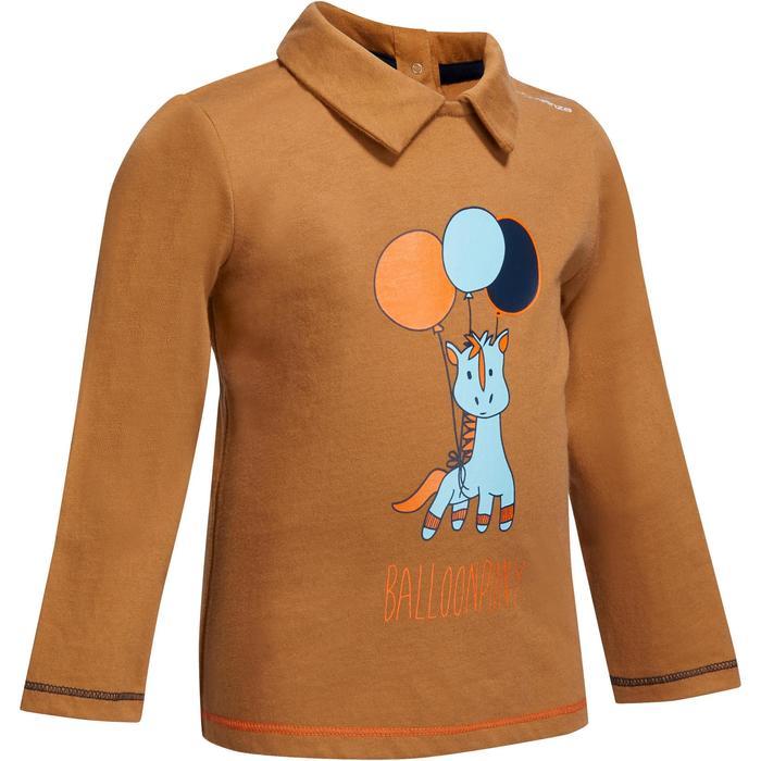 Polo équitation manches longues BABY camel motif poney