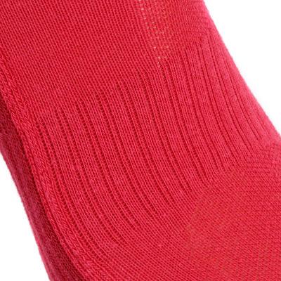 Chaussettes de randonnée enfant MH100 tiges mid Rose/Gris lot de 2 paires.