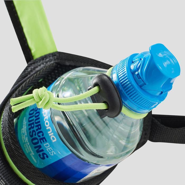 Lauf-Trinkgürtel für Flaschen von 330 bis 500 ml schwarz/gelb