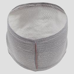 Lauf-Stirnband grau meliert