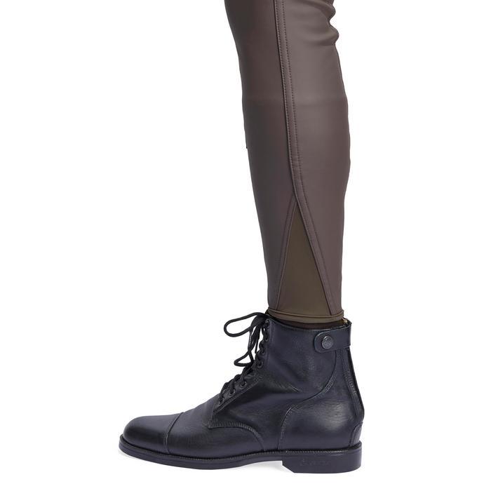 Pantalón cálido e impermeable equitación hombre KIPWARM marrón