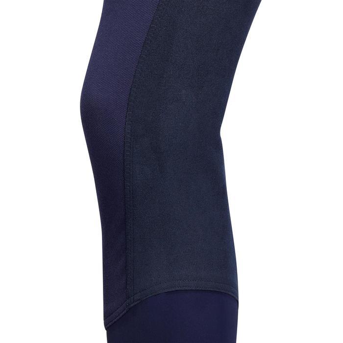 Pantalon chaud équitation femme VICTORIA fond de peau bleu marine - 1214322
