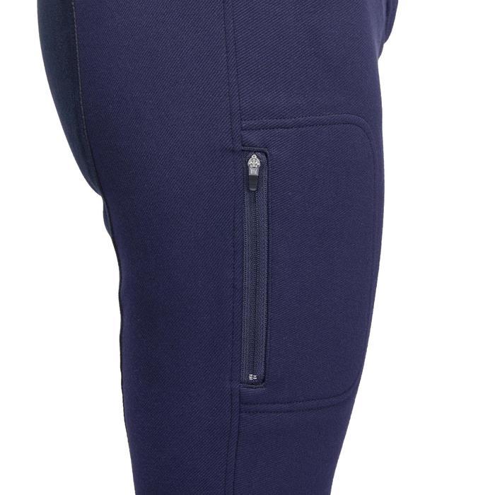 Pantalon chaud équitation femme VICTORIA fond de peau bleu marine - 1214323