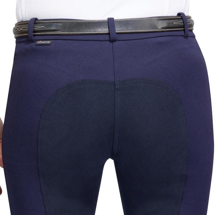 Pantalon chaud équitation femme VICTORIA fond de peau bleu marine - 1214324