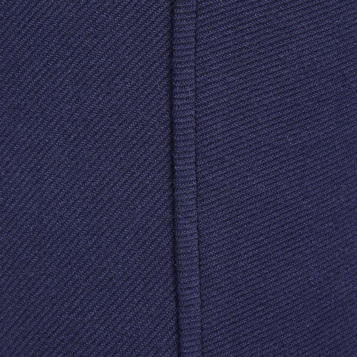 Warme damesrijbroek Victoria met kunstleren zitvlak marineblauw
