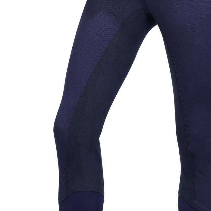 Pantalon chaud équitation femme VICTORIA fond de peau bleu marine - 1214326