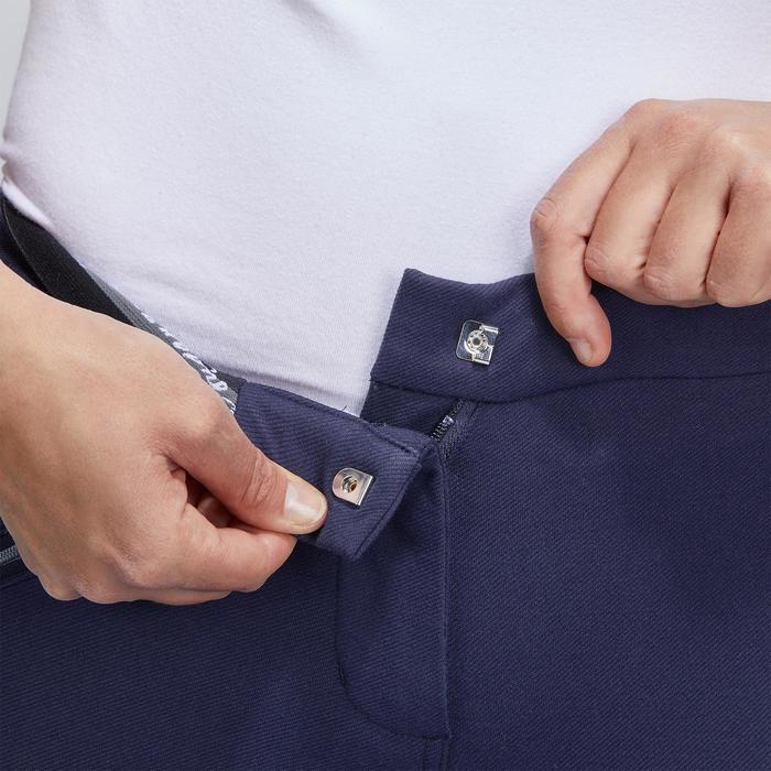Pantalon chaud équitation femme VICTORIA fond de peau bleu marine - 1214327