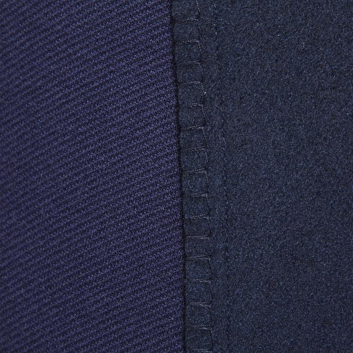 Pantalon chaud équitation femme VICTORIA fond de peau bleu marine - 1214330