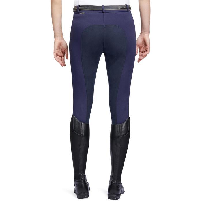 Pantalon chaud équitation femme VICTORIA fond de peau bleu marine - 1214332