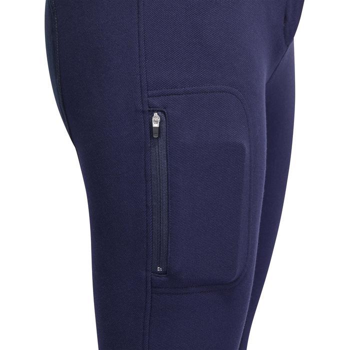 Pantalon chaud équitation femme VICTORIA fond de peau bleu marine - 1214333