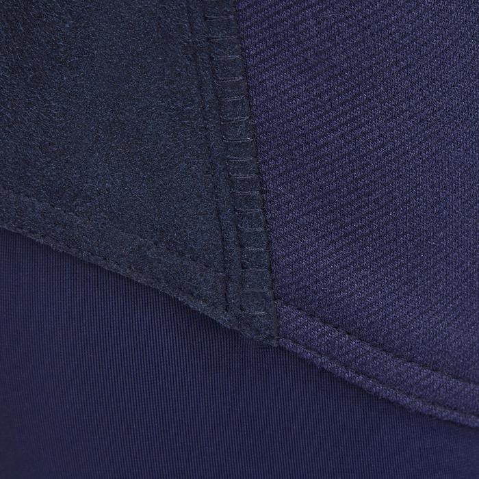 Pantalon chaud équitation femme VICTORIA fond de peau bleu marine - 1214337
