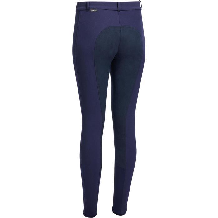 Pantalon chaud équitation femme VICTORIA fond de peau bleu marine - 1214338