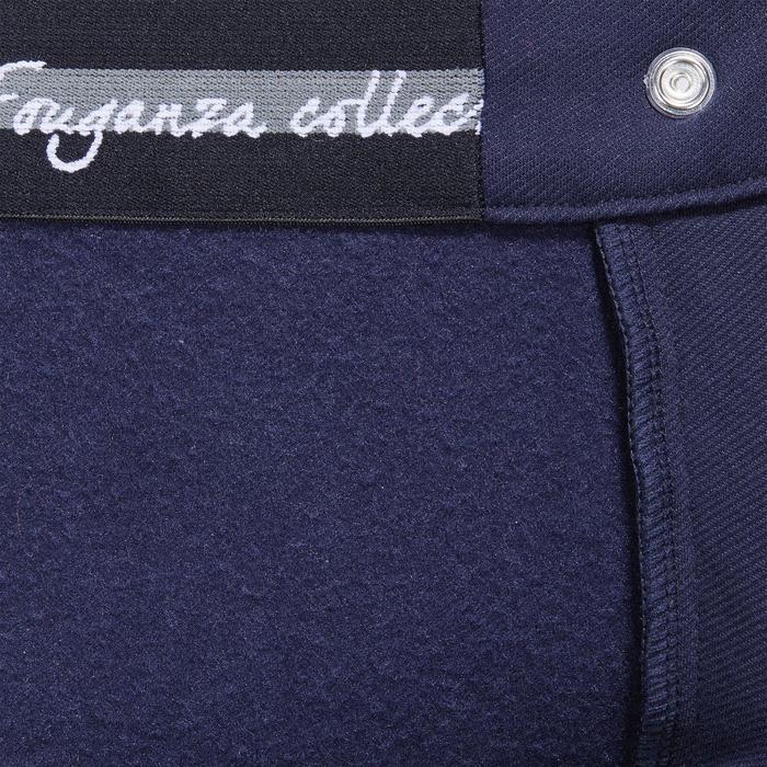 Pantalon chaud équitation femme VICTORIA fond de peau bleu marine - 1214339
