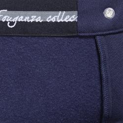 Pantalon chaud équitation femme VICTORIA fond de peau marine