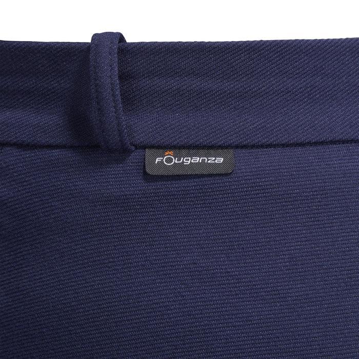Pantalon chaud équitation femme VICTORIA fond de peau bleu marine - 1214340