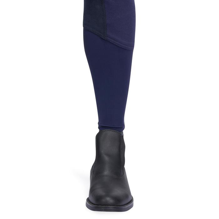 Pantalon chaud équitation femme VICTORIA fond de peau bleu marine - 1214341