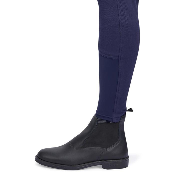 Pantalon chaud équitation femme VICTORIA fond de peau bleu marine - 1214342